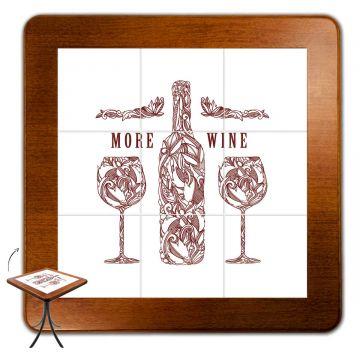 Jogo de Mesa com 4 Cadeiras madeira para lanchonete bar cozinha More Wine - Empório Tambo
