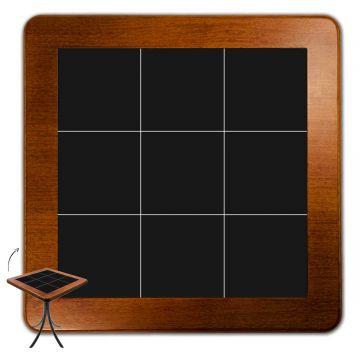 Jogo de Mesa com 4 Cadeiras madeira para lanchonete bar cozinha Preto - Empório Tambo