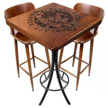 Mesa com cadeiras para varanda pequena Black Beer - Empório Tambo