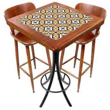 Mesa com 2 cadeiras para cozinha pequena Anos Dourados - Empório Tambo