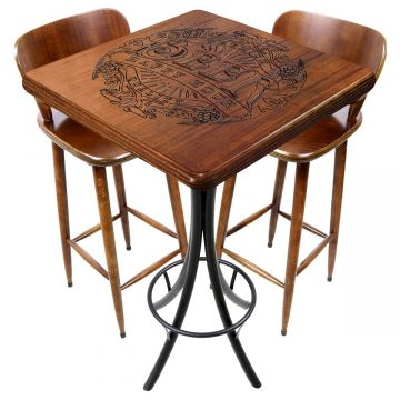 Mesa com cadeiras para varanda pequena Beer Happy Hour - Empório Tambo
