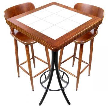 Mesa com 2 cadeiras para cozinha pequena Branco - Empório Tambo