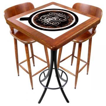 Mesa com 2 cadeiras para cozinha pequena Coffe - Empório Tambo