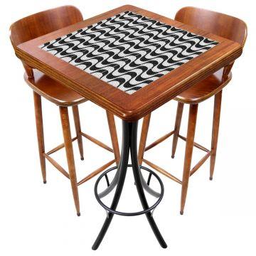 Mesa com 2 cadeiras para cozinha pequena Copacabana - Empório Tambo