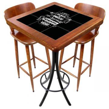 Mesa com 2 cadeiras para cozinha pequena Família e Amigos - Empório Tambo