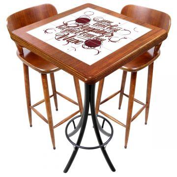 Mesa com 2 cadeiras para cozinha pequena Happiness - Empório Tambo