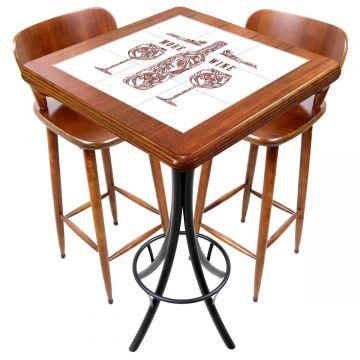 Mesa com 2 cadeiras para cozinha pequena More Wine - Empório Tambo