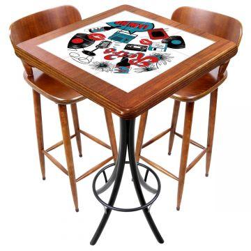 Mesa com 2 cadeiras para cozinha pequena Oh My - Empório Tambo