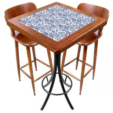 Mesa com 2 cadeiras para cozinha pequena Ondulação - Empório Tambo