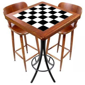 Mesa com 2 cadeiras para cozinha pequena Textura Xadrez - Empório Tambo