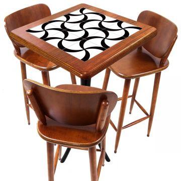 Mesa com 3 Banquetas para Cozinha pequena de apartamento Luar - Empório Tambo