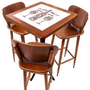 Mesa com 3 Banquetas para Cozinha pequena de apartamento More Wine - Empório Tambo
