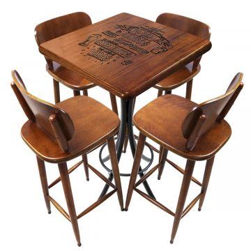 Mesa para sala de jantar 4 cadeiras Familia e amigos - Empório Tambo
