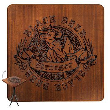 Mesa de canto para sala pequena Black Beer - Empório Tambo