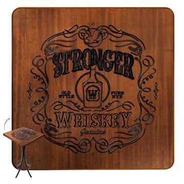 Mesa de canto para sala pequena Stronger Whiskey - Empório Tambo