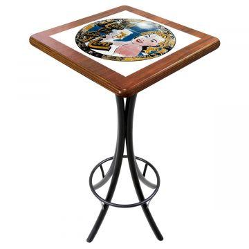Mesa para varanda gourmet alta quadrada em azulejo Go hard or Go Home - Empório Tambo