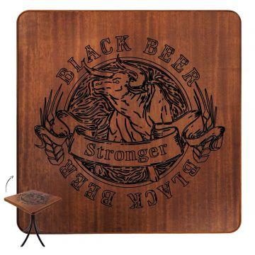 Mesa de madeira rústica para sala de jantar Black Beer - Empório Tambo