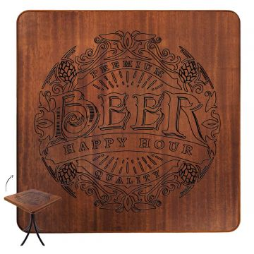 Mesa de madeira rústica para sala de jantar Beer Happy Hour - Empório Tambo