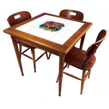 Mesa pequena de jantar com 3 cadeiras para apartamento Motorcycle - Empório Tambo