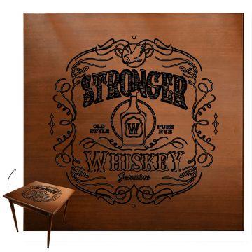 Mesa jantar 80x80 pequena de madeira com 3 cadeiras Stronger Whiskey - Empório Tambo