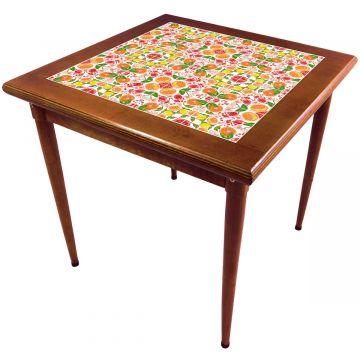 Mesa de madeira jantar maciça rustica quadrada Frutas - Empório Tambo