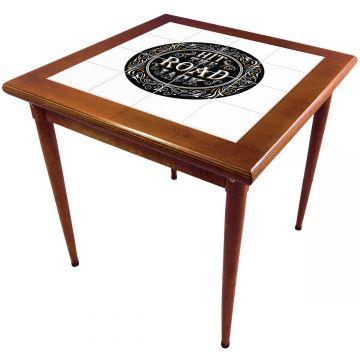 Mesa de madeira jantar maciça rustica quadrada Hit the Road Jack - Empório Tambo
