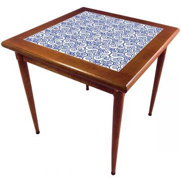 Mesa de madeira jantar maciça rustica quadrada Ondulação - Empório Tambo