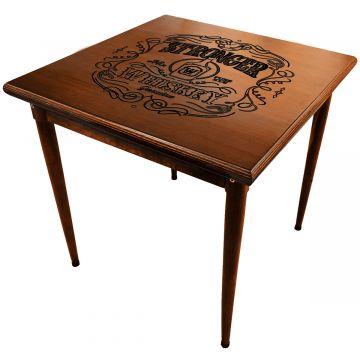 Mesa quadrada madeira maciça rustica Stronger Whiskey - Empório Tambo
