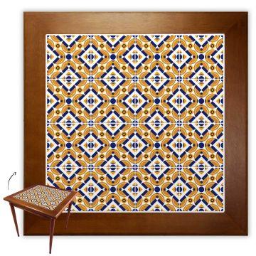 Mesa de Jantar 4 Lugares quadrada de madeira para casa edícula Anos Dourados - Empório Tambo