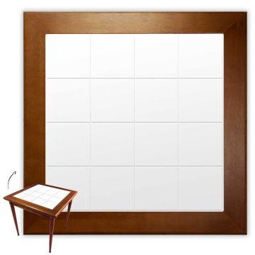 Mesa de madeira jantar maciça rustica quadrada Branco - Empório Tambo
