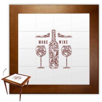 Mesa de jantar pequena quadrada para sala 2 cadeiras More Wine - Empório Tambo