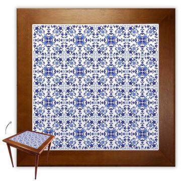 Mesa de Jantar 4 Lugares quadrada de madeira para casa edícula Português - Empório Tambo
