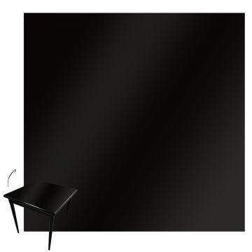 mesa quadrada para cozinha pequena de apartamento com 2 cadeiras Laqueada Preta - Empório Tambo