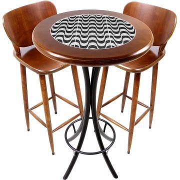 Conjunto de mesa e 2 cadeiras para varanda e sacada Copacabana - Empório Tambo