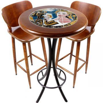 Conjunto de mesa e 2 cadeiras para varanda e sacada Go hard or Go Home - Empório Tambo