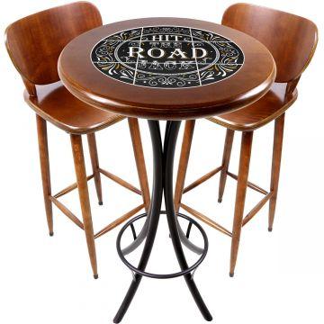 Conjunto de mesa e 2 cadeiras para varanda e sacada Hit the Road Jack - Empório Tambo