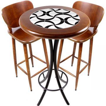 Conjunto de mesa e 2 cadeiras para varanda e sacada Luar - Empório Tambo