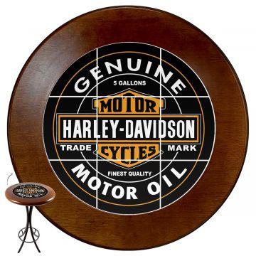 Conjunto de mesa e 2 cadeiras para varanda e sacada Harley Davidson Genuine - Empório Tambo