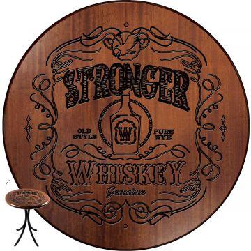 Mesa de madeira com 4 cadeiras Stronger Whiskey - Empório Tambo