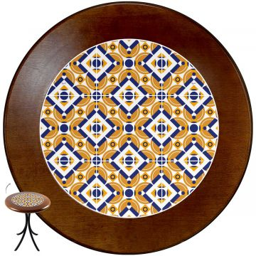 mesa redonda 4 cadeiras madeira maciça bar e lanchonete Anos Dourados - Empório Tambo