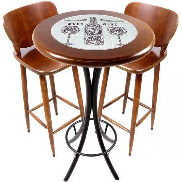 Conjunto de mesa e 2 cadeiras para varanda e sacada More Wine - Empório Tambo