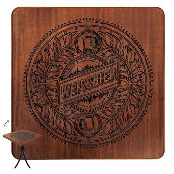 Mesa de madeira rústica para sala de jantar Weissbier - Empório Tambo