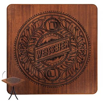Mesa com cadeiras de madeira Weissbier - Empório Tambo