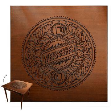 Mesa quadrada madeira maciça rustica Weissbier - Empório Tambo