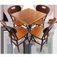 Conjuntos Mesa de Madeira bar 60x60cm