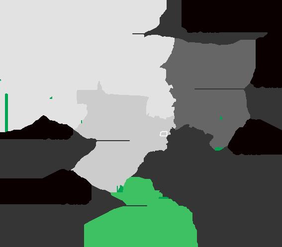 mapa do brasil com prazo médio de entrega