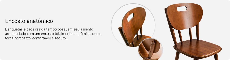 Cadeira com encosto anatômico