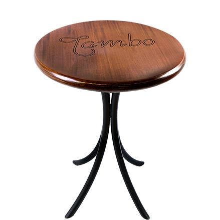 Mesa bistro baixa de madeira
