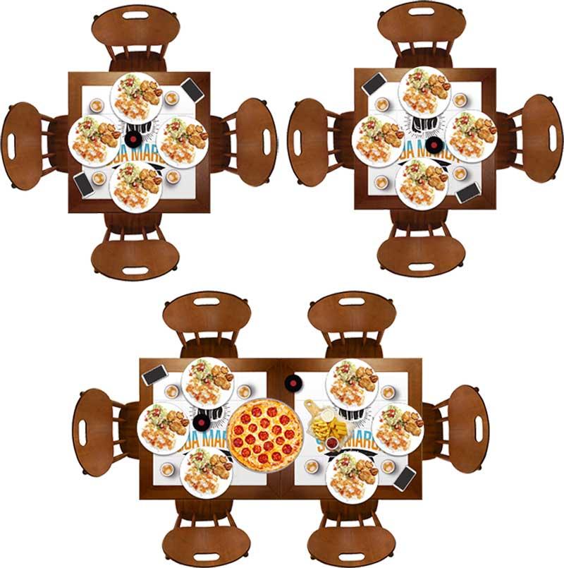 Mesa ideal para refeições de pratos mais completas