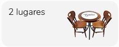 conjunto mesa de 60 cm com azulejo e 2 cadeiras